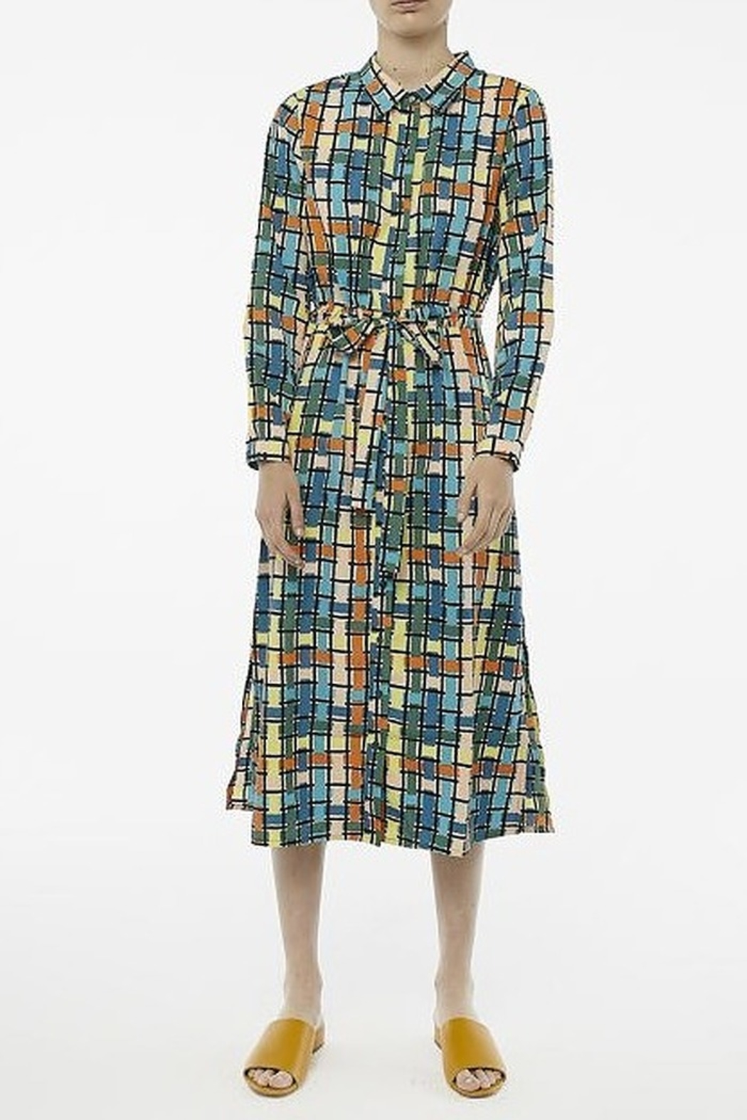 Compania Fantastica Stained glass dress - Back Cropped Image