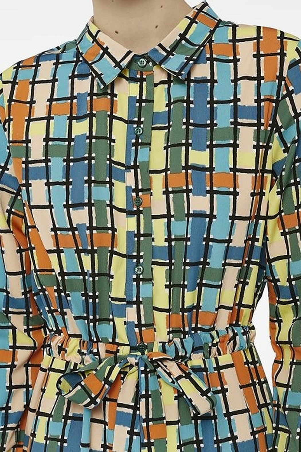 Compania Fantastica Stained glass dress - Side Cropped Image