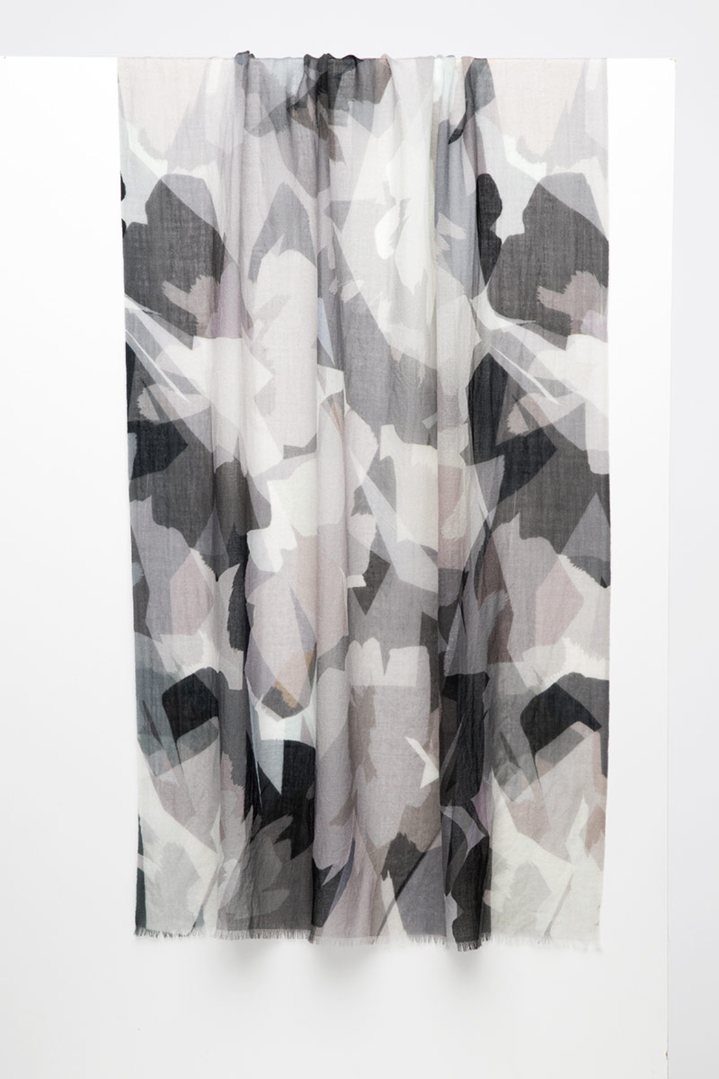 Kinross Cashmere STAINED GLASS FLORAL PRINT SCARF - Main Image