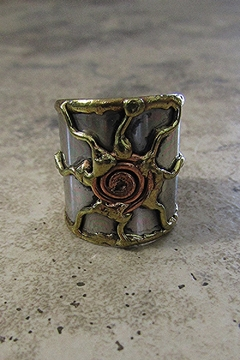 Shoptiques Product: STAINLESS STEEL CUFF RING -5