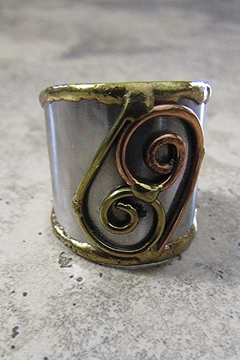 Shoptiques Product: STAINLESS STEEL CUFF RING -6
