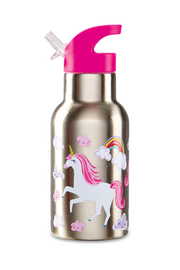 Crocodile Creek Stainless Steel Water Bottle - Unicorns - Front cropped
