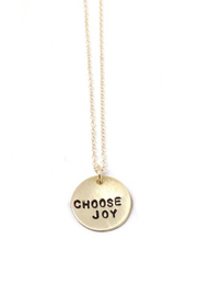 Crafts and Love Stamped Tiny Phrase Necklace - Product Mini Image