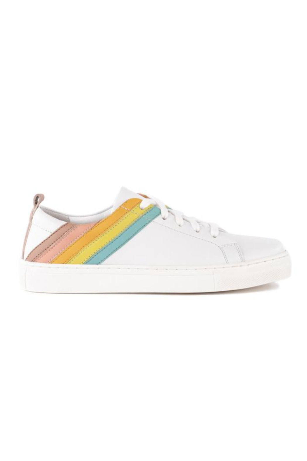 Seychelles Stand Out Leather Rainbow Sneaker - Front Full Image