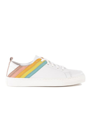 Seychelles Stand Out Leather Rainbow Sneaker - Front full body