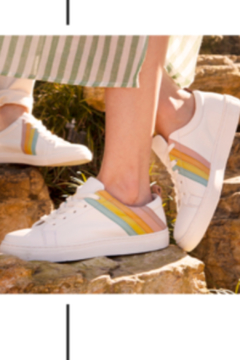Shoptiques Product: Stand Out Leather Rainbow Sneaker