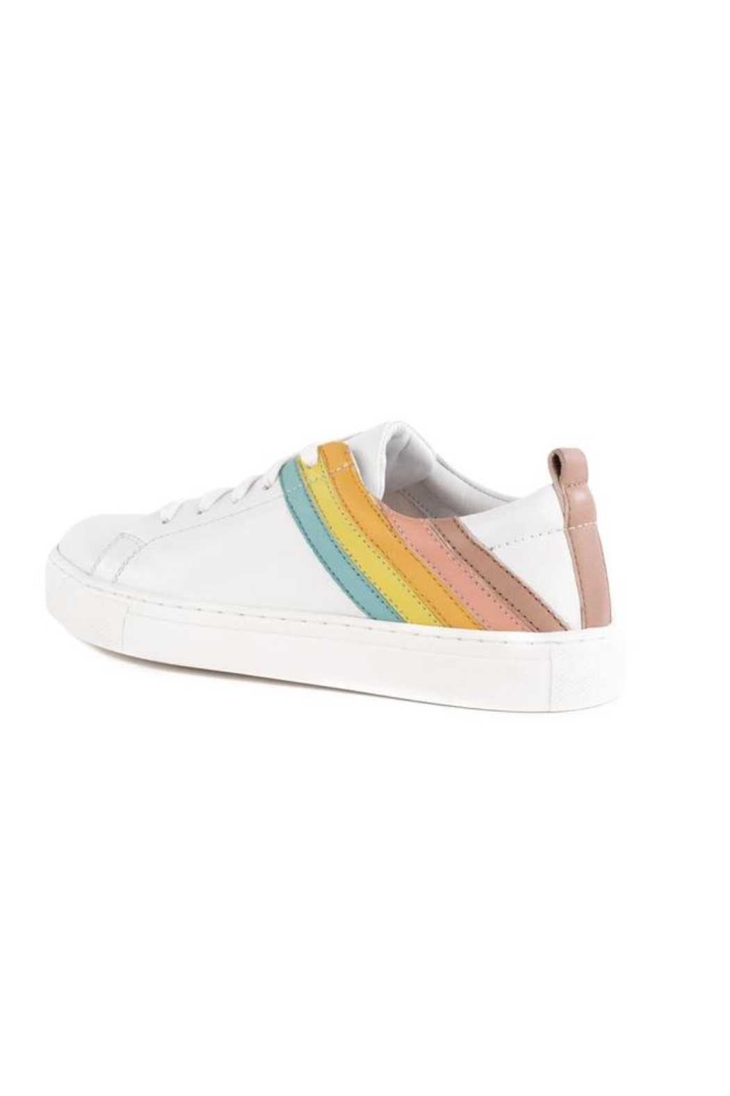 Seychelles Stand Out Leather Rainbow Sneaker - Side Cropped Image