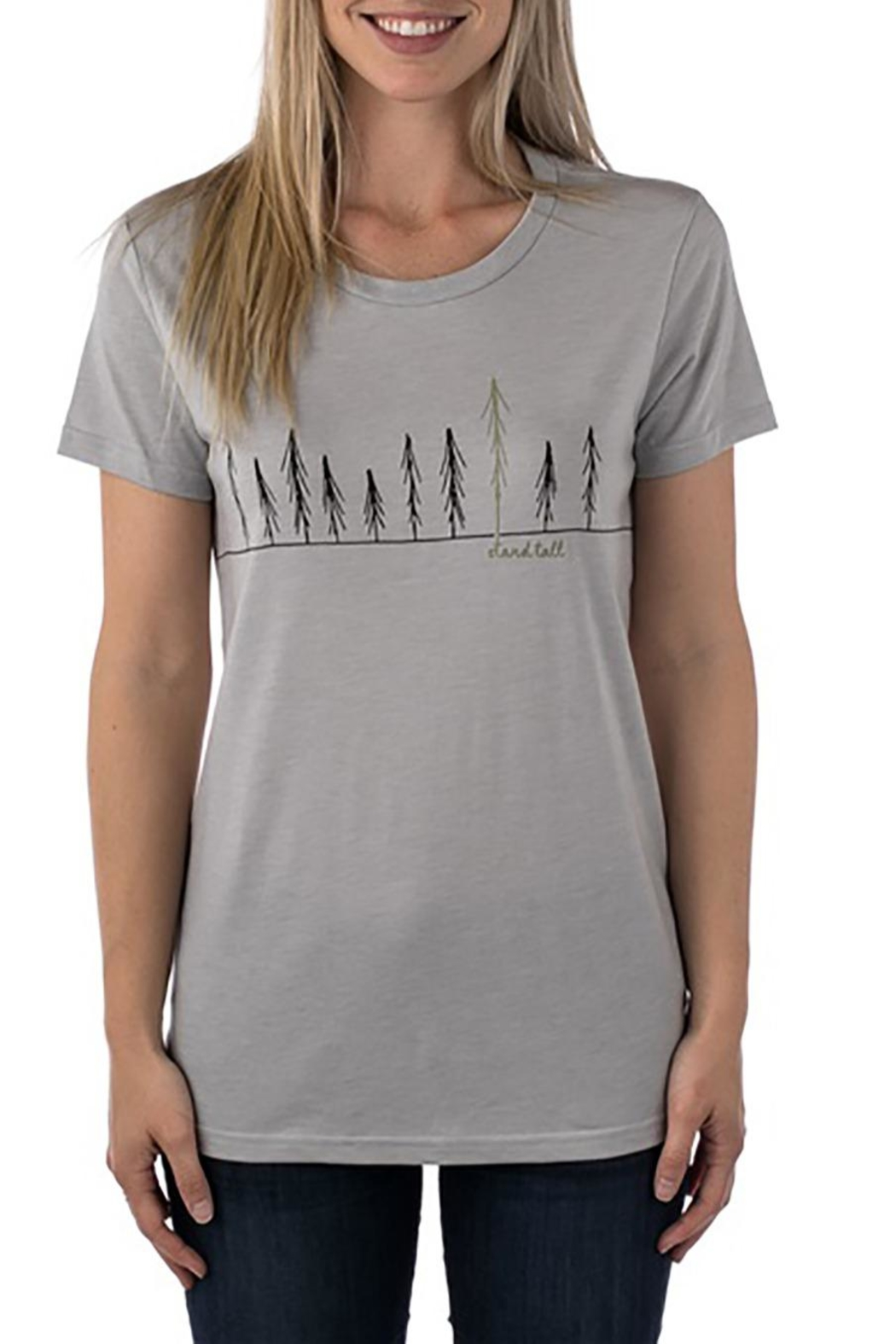 tentree Stand Tall Tee - Back Cropped Image