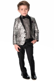 Appaman Standard Button-Up Black - Front full body