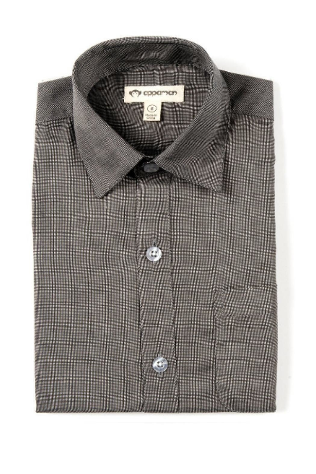 Appaman Standard Button-Up Black - Front Cropped Image