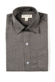 Appaman Standard Button-Up Black - Front cropped