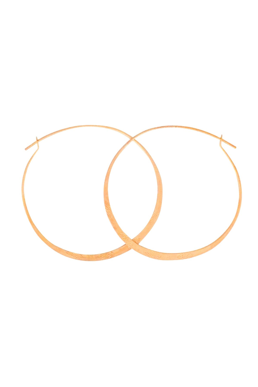Bronwen Standard Hoop Earrings 1.75 Gold - Main Image