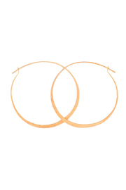 Bronwen Standard Hoop Earrings 1.75 Gold - Front cropped