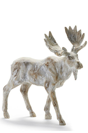 Gift Craft Standing moose decor - Front cropped