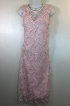 Staples Pink Feather Dress - Product List Image