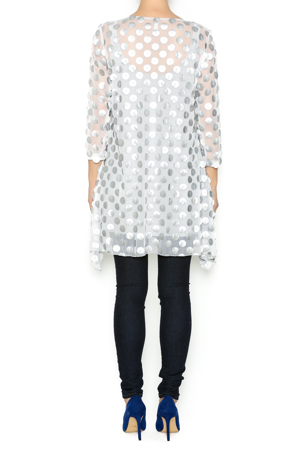 Staples Silver and White Mod Tunic - Side Cropped Image