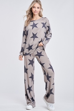 Phil Love Star All Over Lounge Top - Product List Image