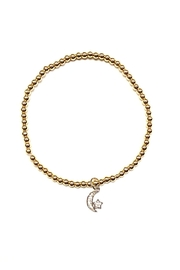 Lovely Lisa Star-And-Moon Anklet - Front cropped