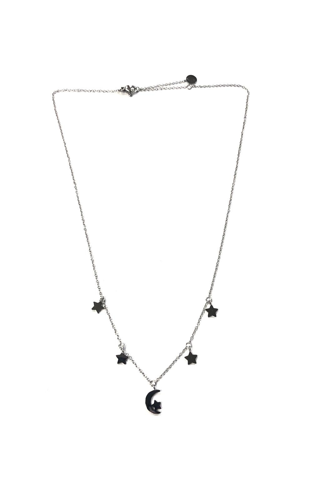 Lets Accessorize Star-And-Moon Charm Necklace - Main Image