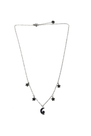 Lets Accessorize Star-And-Moon Charm Necklace - Front cropped