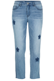 Tribal Star and trim detail jeans - Product Mini Image