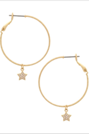 Bluebell Star Charm Hoops - Product Mini Image
