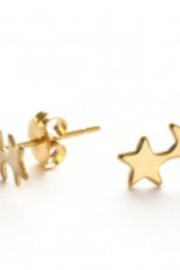 Amano Trading Star Cluster Stud Silver Earrings - Product Mini Image