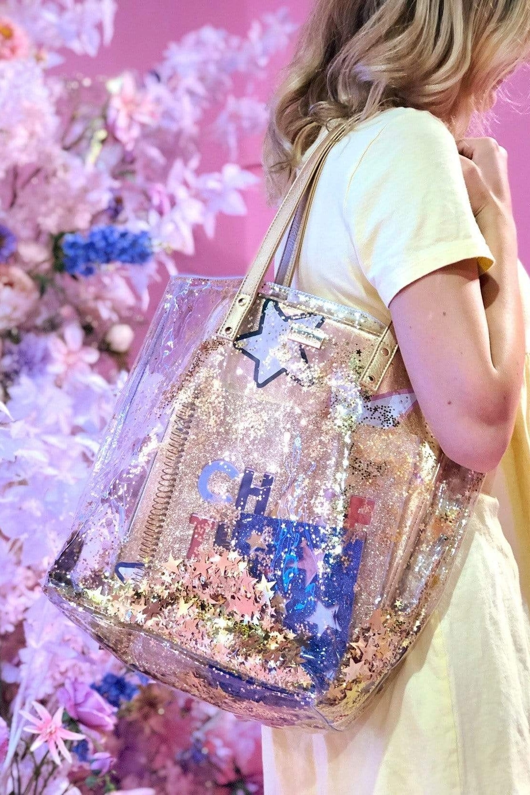 Packed Party Star Confetti Bucket Bag - Front Full Image