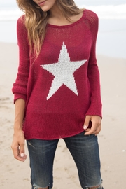 Wooden Ships Star Crewneck Sweater - Front cropped