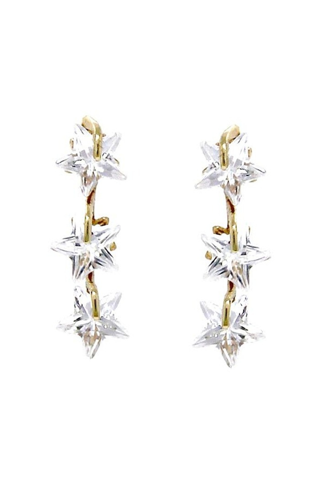 US Jewelry House Star CZ Earrings - Main Image