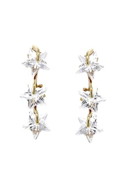 US Jewelry House Star CZ Earrings - Front cropped