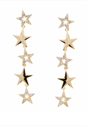 US Jewelry House Star Drop Earrings - Product Mini Image