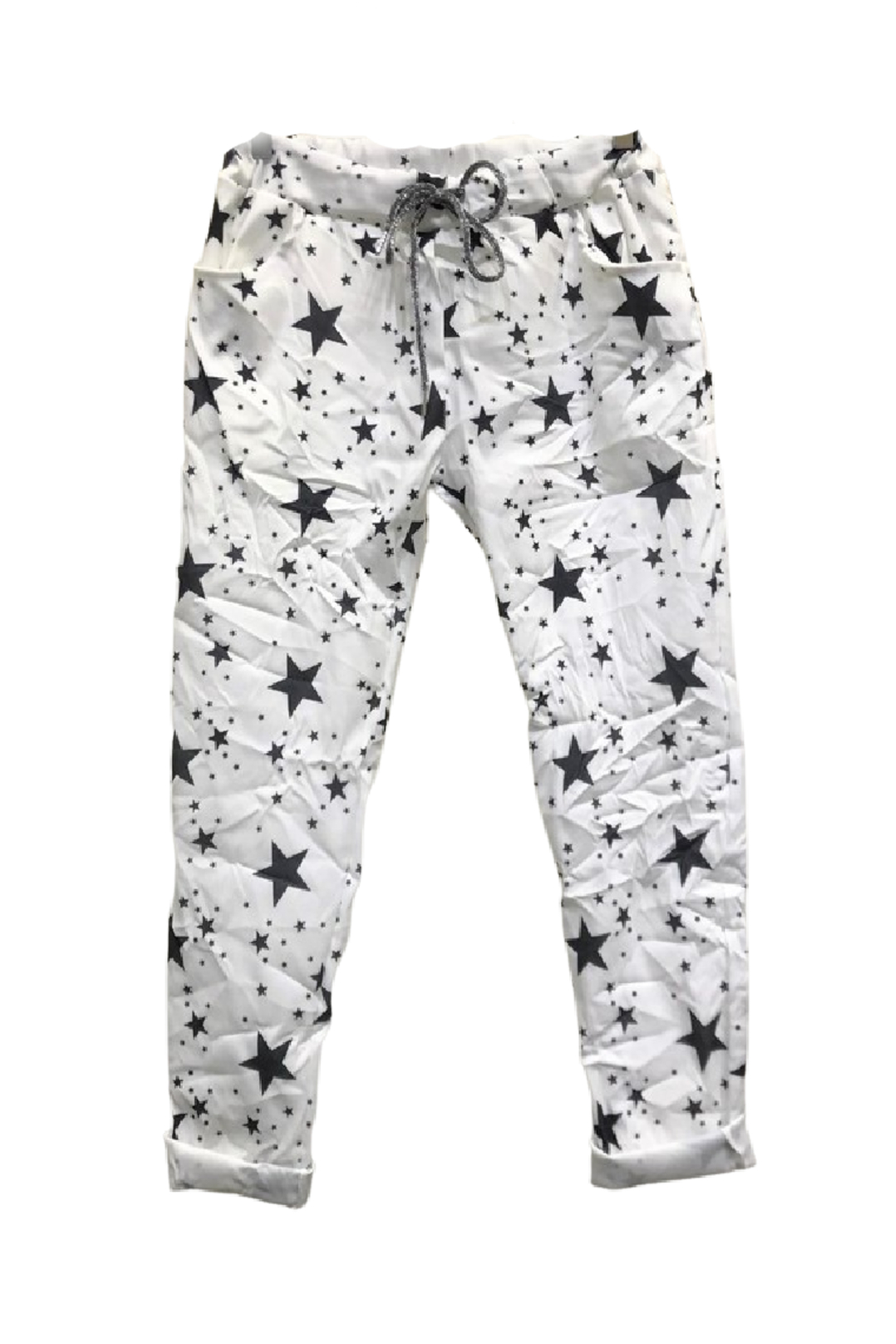 Venti6 Star Fall Crinkle Jogger - Front Full Image