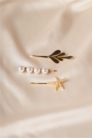 Tasha Apparel Star fish bobby pin trio - Front cropped