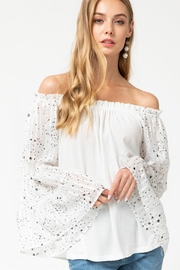 entro  Star Flare Arm Off Shoulder Top - Product Mini Image