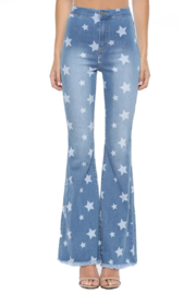 Cello Star Flare Jean - Front cropped