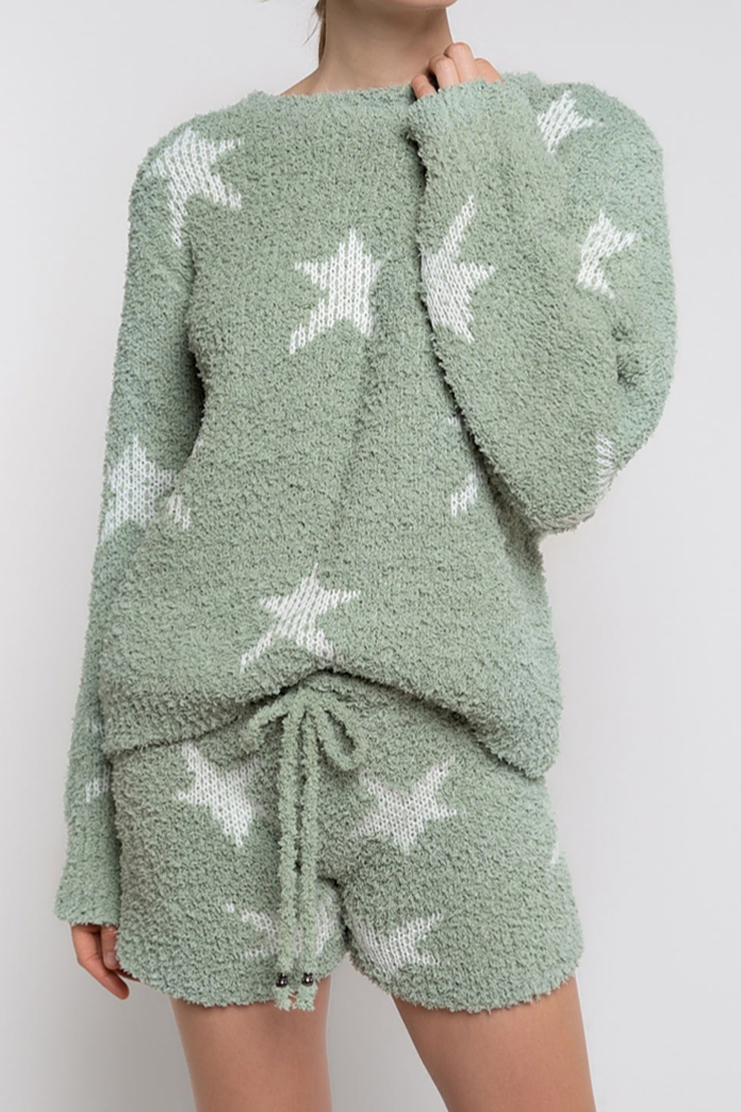 POL Star Fleece Shorts - Front Cropped Image