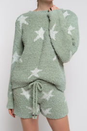 POL Berber Star Fleece Shorts - Product Mini Image