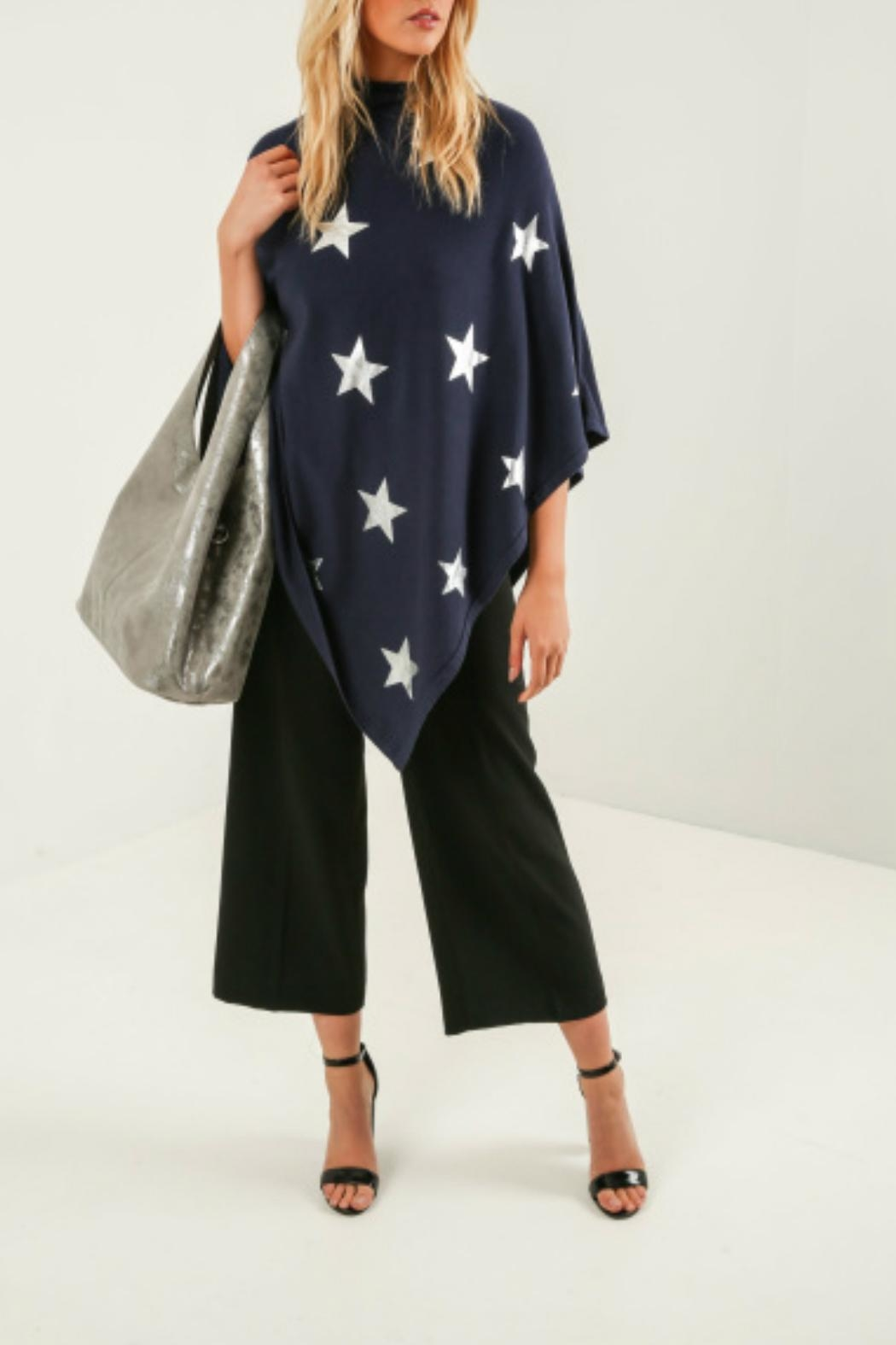 Kris-Ana  Star Foil Poncho's - Front Cropped Image