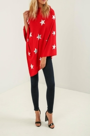 Kris-Ana  Star Foil Poncho's - Front cropped