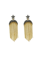 Lets Accessorize Star Fringe Earrings - Product Mini Image
