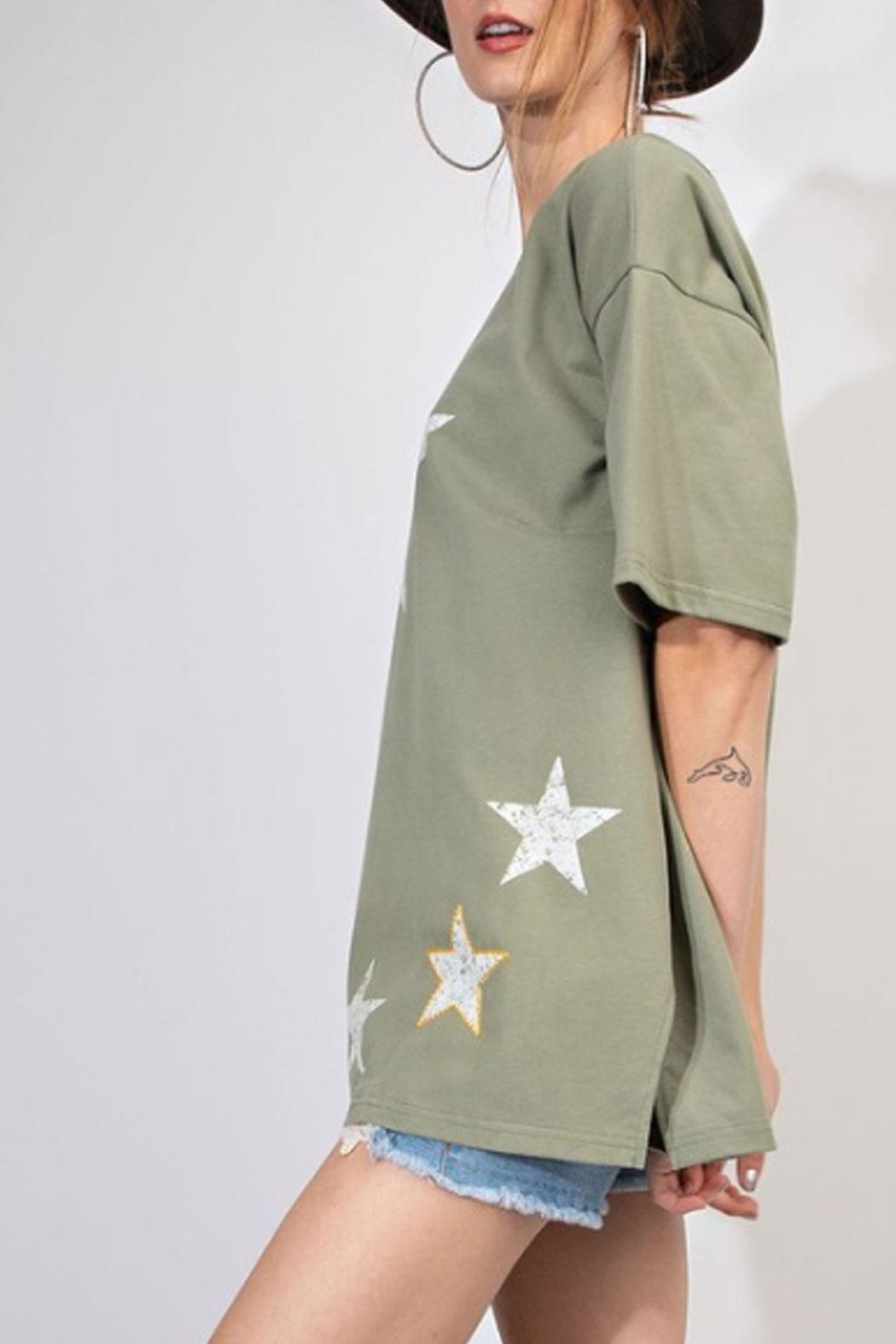 easel Star Graphic Tee - Front Full Image