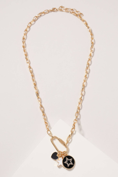 avenue zoe  Star Heart Charms Chain Linked Necklace - Product List Image