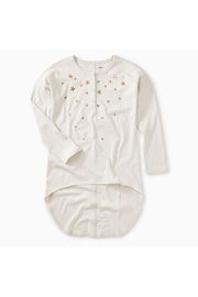 Tea Collection Star Henley Hi-Lo Top - Front cropped