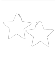 US Jewelry House Star Hoop Earrings - Product Mini Image