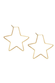 Kris Nations Star Hoop Small - Product Mini Image