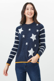 Joules Star Intarsia Sweater - Product Mini Image