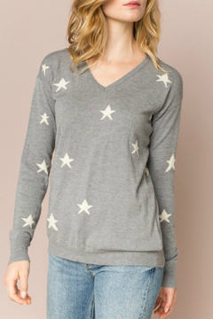 Shoptiques Product: Star knit V-neck sweater top