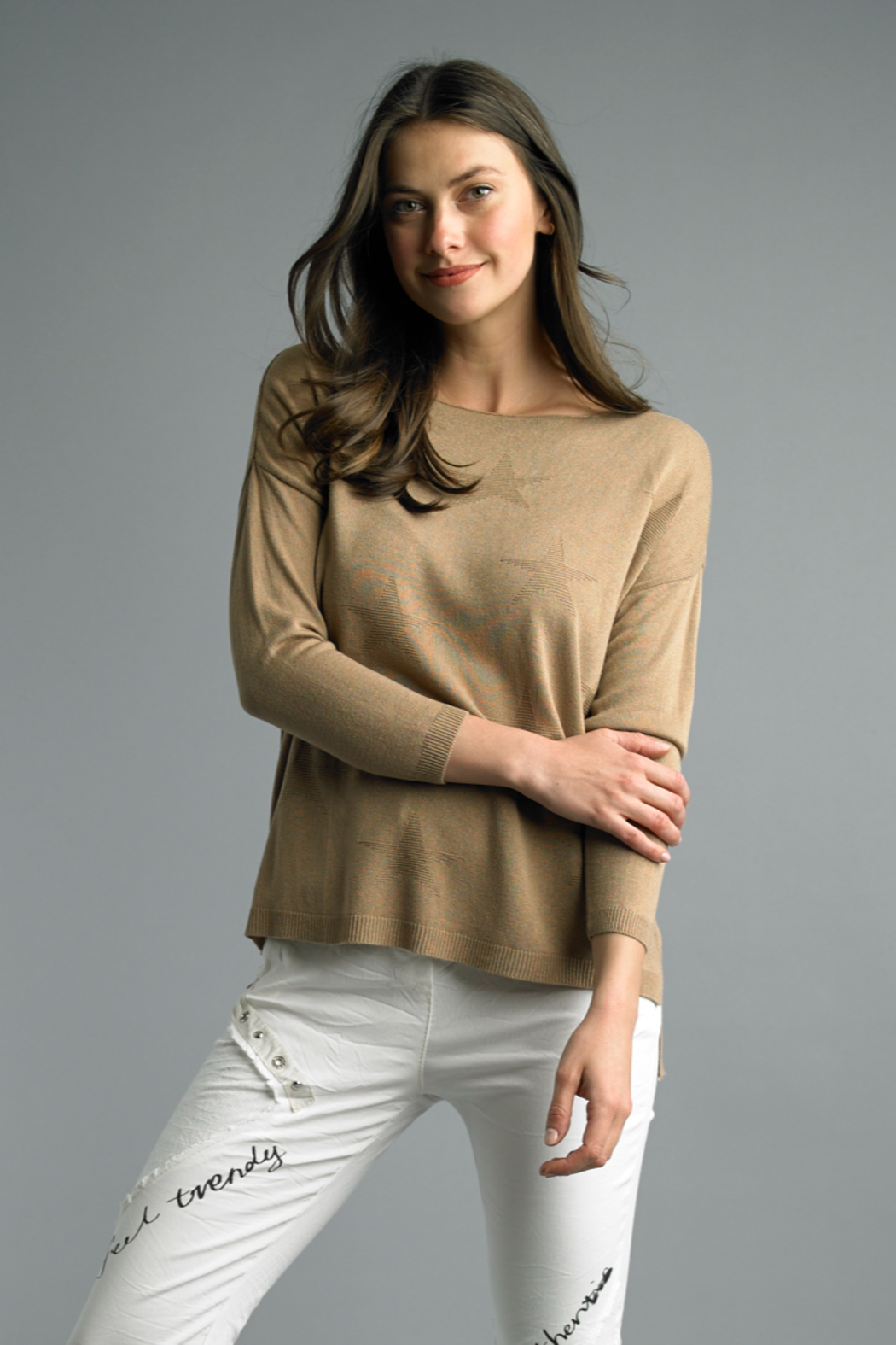 Tempo Paris  Star Knits - Front Cropped Image