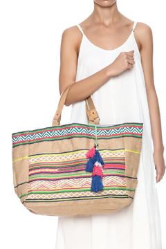 Shoptiques Product: Jute Embroidered Tote